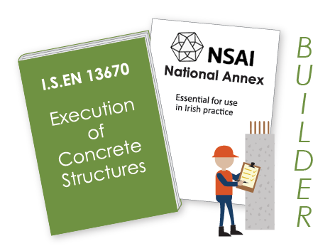 I.S. EN 13670 Execution of concrete structures book graphic